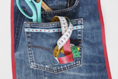 Taschenutensilo Upcycling Jeans