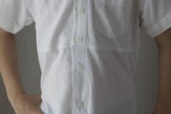Upcycling-Herrenhemd-Kinderhemd-Vorderseite-Frau-Fadegrad
